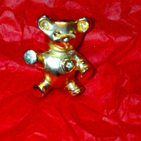 Lovely golden teddy bear brooch